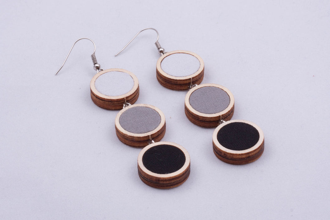Textile ombre earrings