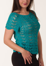 "Knit top ""Lacy Short Sleeves"""