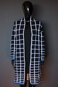 Mondrian black - white - blue
