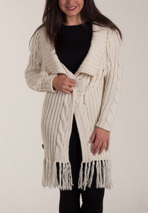 "Knit cardigan ""Happy Tassels"""