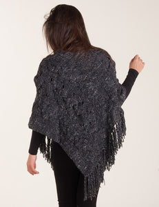 "Knit poncho ""Triple Braid"""