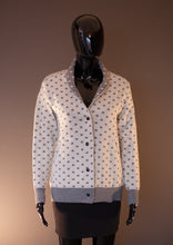 Polka dot white - grey