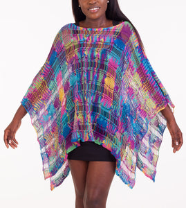 "Knit poncho ""Magic Carpet"""