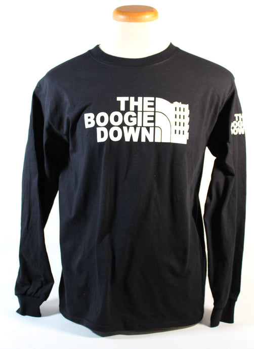 THE BOOGIE DOWN LS  TEE - BLACK