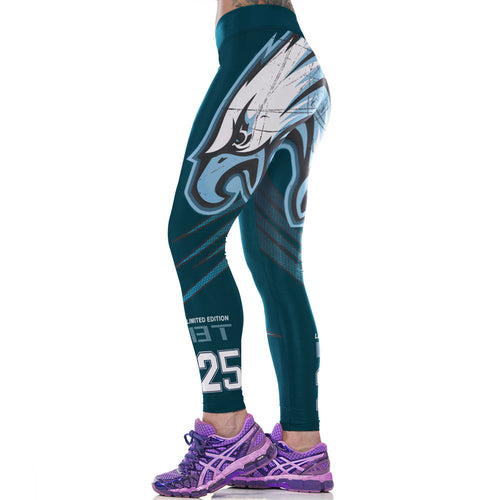 Classic America Style 3D Animal 25 Print NFL Women Exercise Leggings - ShoppingDailyDeals