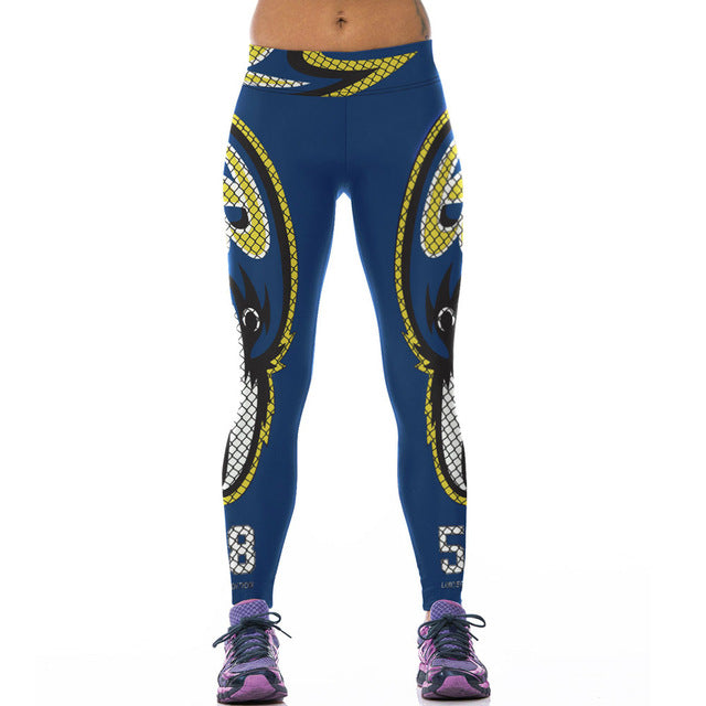 Women Work Out Patchwork Fitness Clothing American NFL Exercise Legging For Women - ShoppingDailyDeals