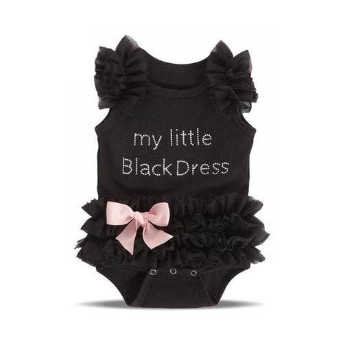 Little Girl Black Romper Infant Sleeper Pajamas Jumpsuit One-piece Baby Clothes - ShoppingDailyDeals