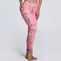 Colorful Print Pink Women Casual Sporting Workout Plus Size Sportswear Leggings - ShoppingDailyDeals