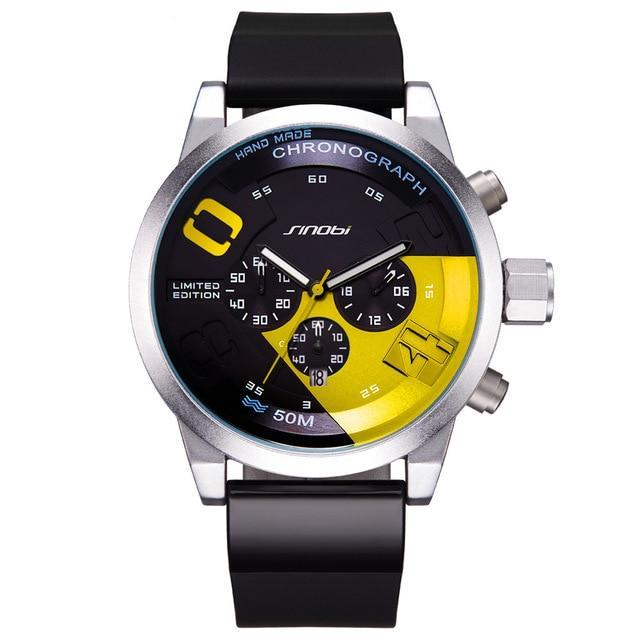 New Fast & Furious Men Waterproof Chronograph Quartz Wrist Watch - ShoppingDailyDeals