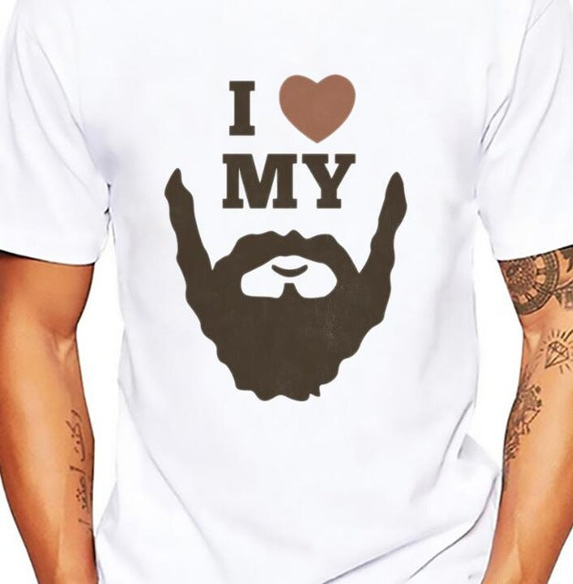 Men's BEARDED RULE SKULL Soft Breathable Comfort Short Sleeve T-Shirt - ShoppingDailyDeals