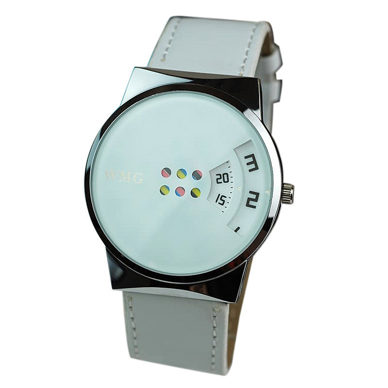 Creative Carousel Scale Pu Leather Belt Ladies Watches - ShoppingDailyDeals