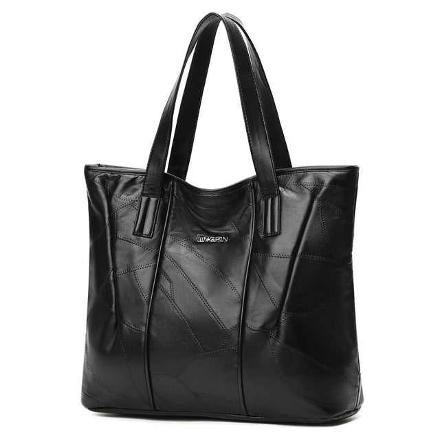 Women Tote Bag Genuine Shoulder Large Ladies Shopping Bags - ShoppingDailyDeals