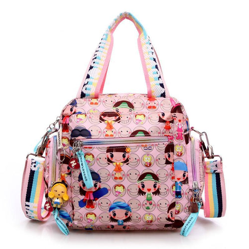 cartoon doll handbag waterproof nylon cloth one shoulder cross-body women's handbag - ShoppingDailyDeals