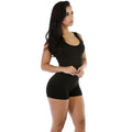 Women's Sexy Solid Sleeveless One Piece Rompers Short Pants - ShoppingDailyDeals