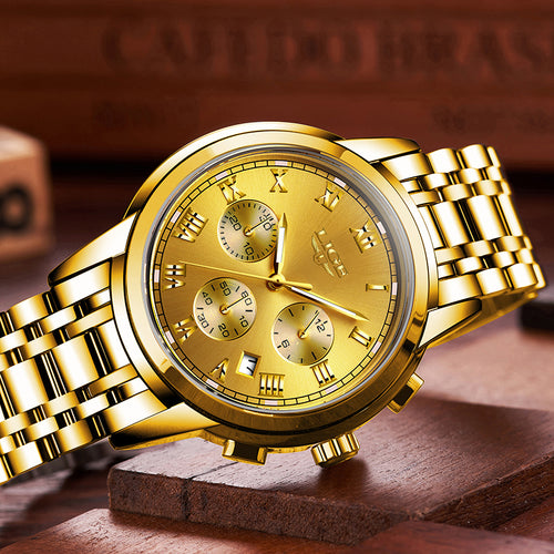 Mens Watches Top Brand Full Steel Luxury Fashion Waterproof Business Quartz Watches - ShoppingDailyDeals