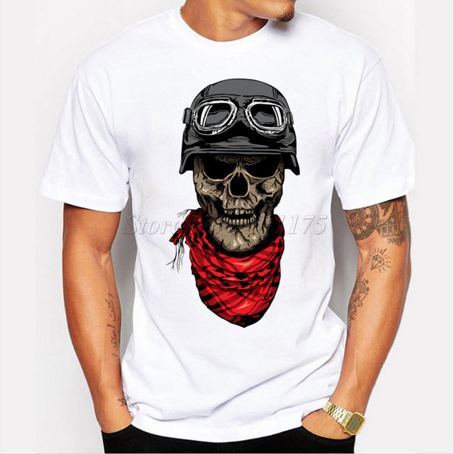 2018 New Dark Rider Design Men's Fashion T shirt - ShoppingDailyDeals