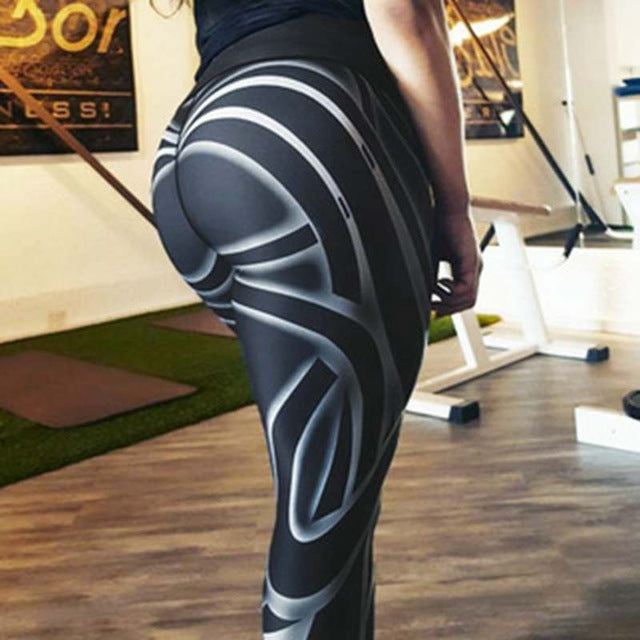 Yoga Fitness Women Hip High Waist Leggings - ShoppingDailyDeals
