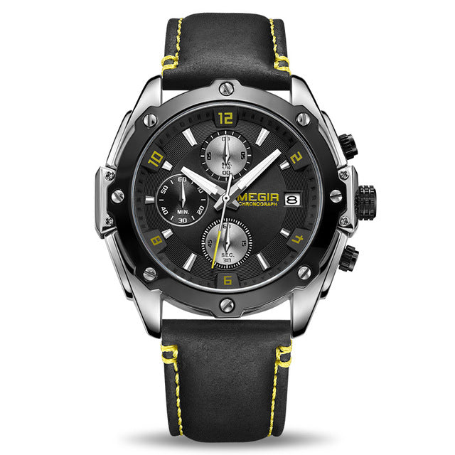 2018 Top Brand Luxury Men's Sport Leather Strap Waterproof Wrist Watch - ShoppingDailyDeals