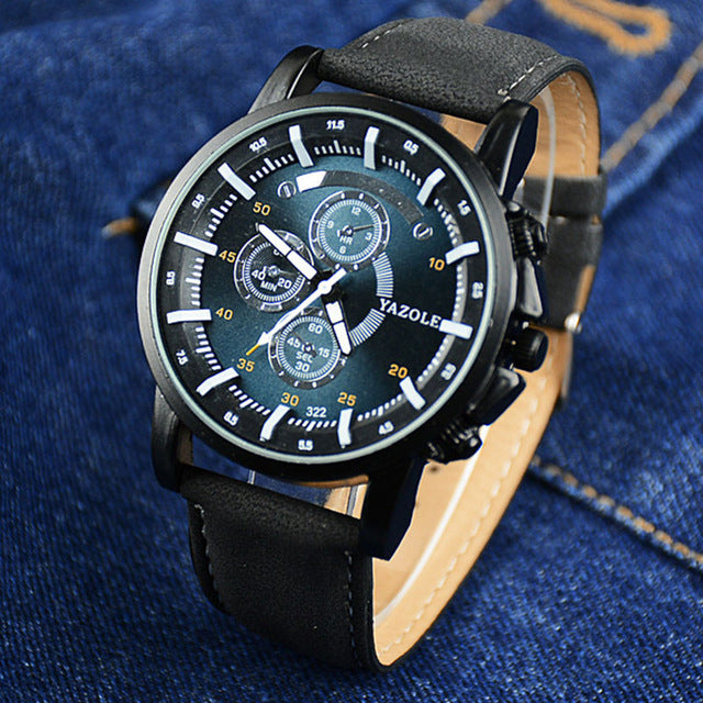 2018 Men Watch Luxury Top Brand Business Leather wristwatch - ShoppingDailyDeals