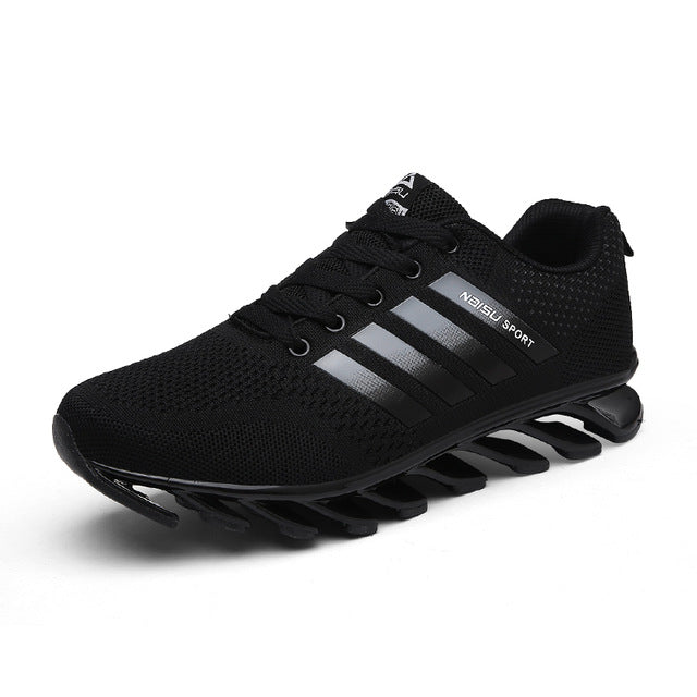Men Sports Shoes Trail Running Black Tennis Breathable Outdoor Sneakers - ShoppingDailyDeals