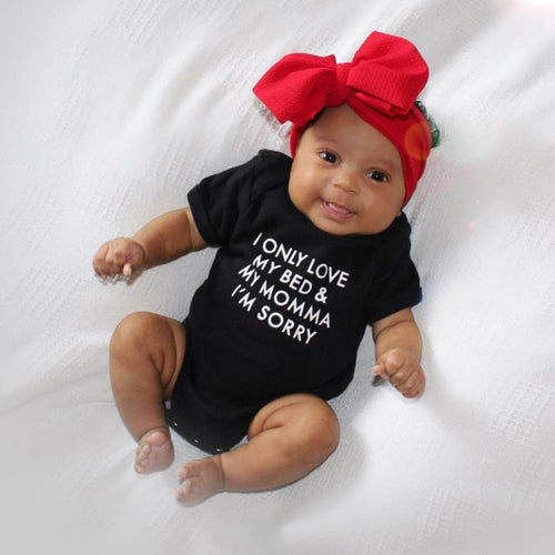 2018 Baby Onesie I Only Love My Bed & My Momma  Bodysuit - ShoppingDailyDeals