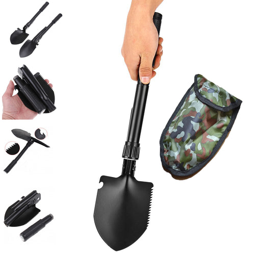 Hot sale Multi-function Military Portable Folding Camping Shovel Survival Spade Emergency Garden Outdoor Tool - ShoppingDailyDeals