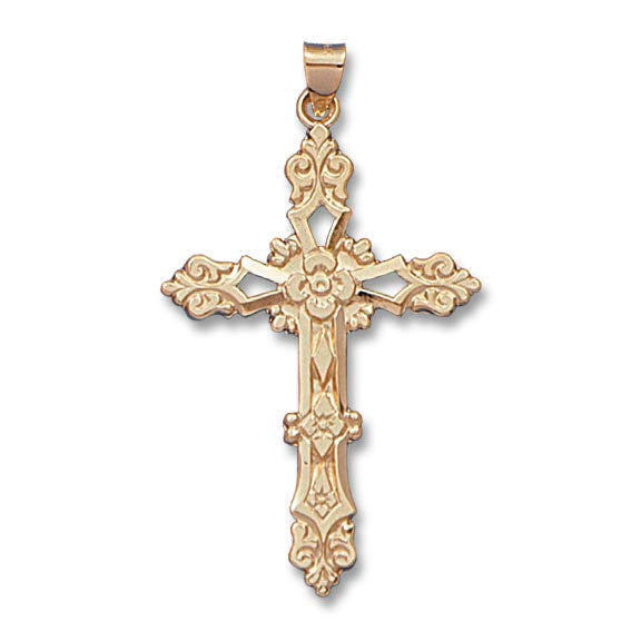 Fancy Cross 14K Yellow - Solid