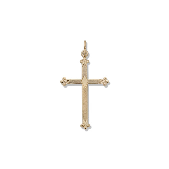Florentine Cross 14K Yellow