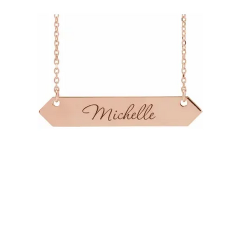 Geometric Nameplate Necklace