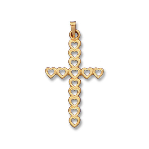 Heart Cross 14K Yellow