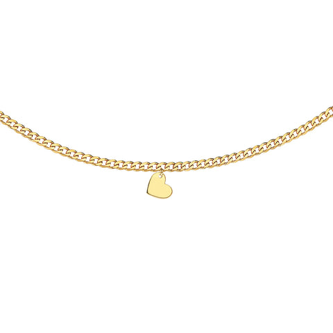 Heart Curb Chain Choker