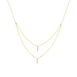 Layered Vertical Bar Diamond Necklace