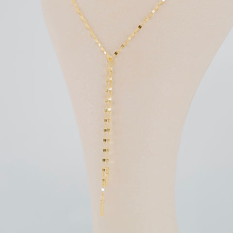 Nightingale Sparkle Bar Chain Necklace