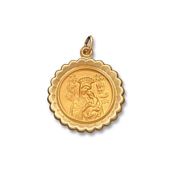 Our Lady of Perpetual Help 14K Scalloped - Hollow