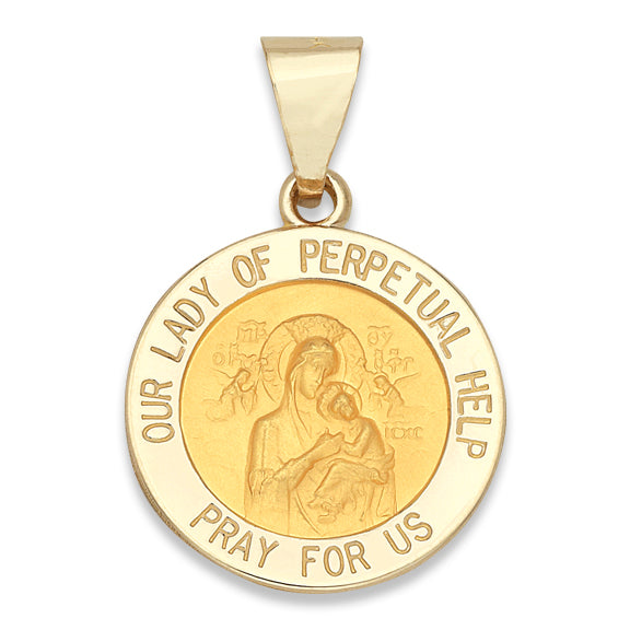 Our Lady of Perpetual Help 14K Yellow - Hollow