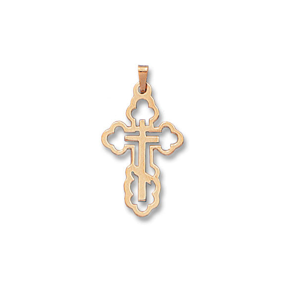 Silhouette Orthodox Cross 14K Yellow - Solid