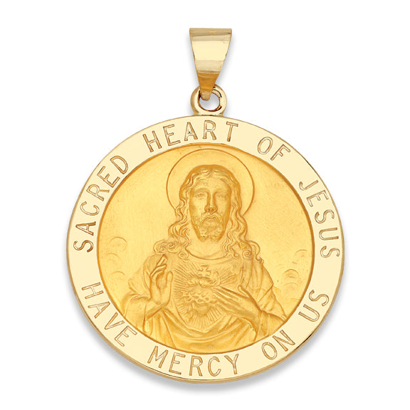 Sacred Heart of Jesus 14K Yellow - Hollow