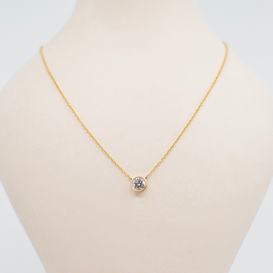 Shelby Diamond Bezel Necklace