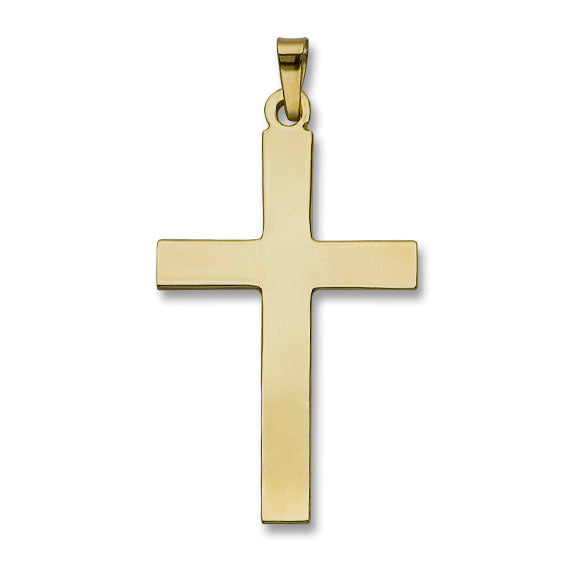 Simple Cross 14K Yellow - Solid