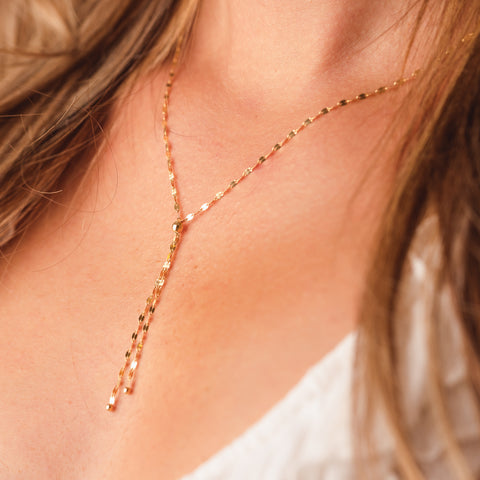 Sparkle Y Chain Necklace