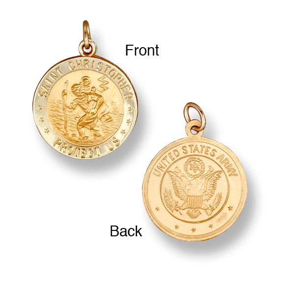 St. Christopher Army 14K Yellow - Solid