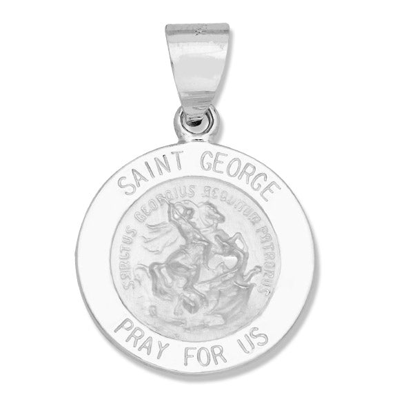 St. George 14k White - Hollow
