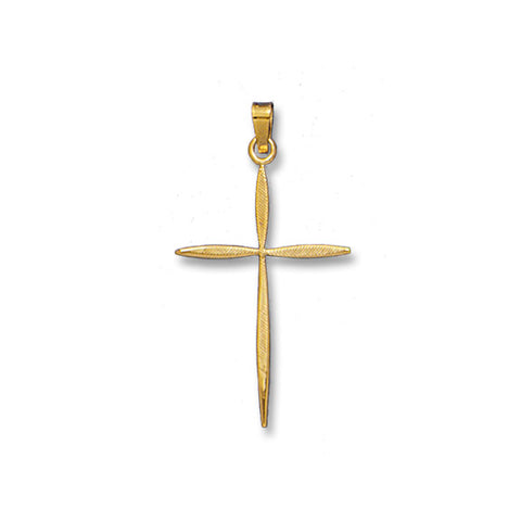 Tapered Cross 14K Yellow - Solid
