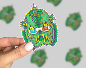 Creature Feature Sticker, Horror Laptop Sticker, Horror Car Sticker, Monster Sticker, Retro Sticker