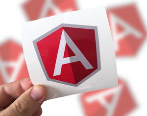 Angular JS Sticker, Angular Laptop Sticker, Angular Car Sticker, Angular sticker
