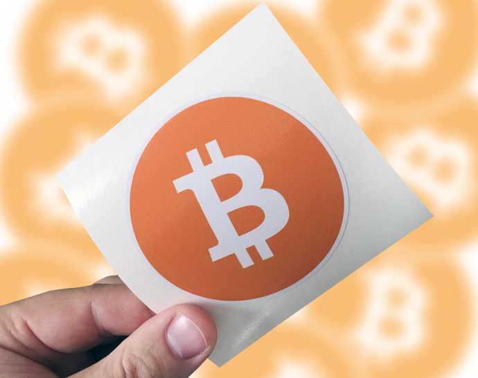 Bitcoin Sticker, Bitcoin Laptop Sticker, Bitcoin Car Sticker, Bitcoin Window Sticker