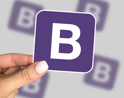 Bootstrap Sticker, Bootstrap Laptop Sticker, Bootstrap Car Sticker, Bootstrap Yeti Sticker