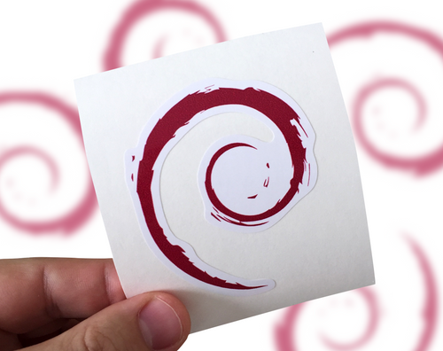 Debian Sticker, Debian Laptop Sticker, Debian Car Sticker, Linux sticker