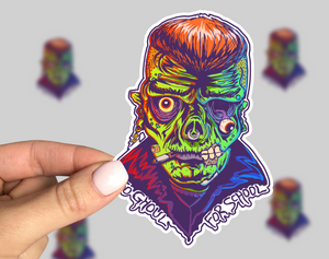 Ghoul Sticker, Horror sticker, Horror Car Sticker, Monster Sticker, Friday the 13th