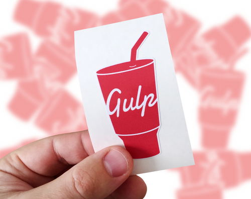 Gulp Sticker, Gulp Laptop Sticker, Gulp Car Sticker, Gulp